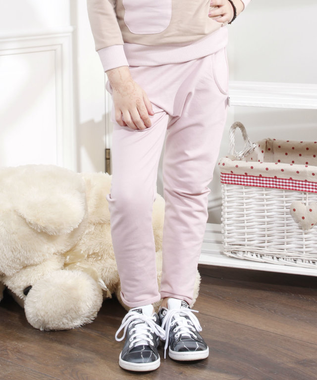 Slim harem kelnės ,,Dusty Pink""