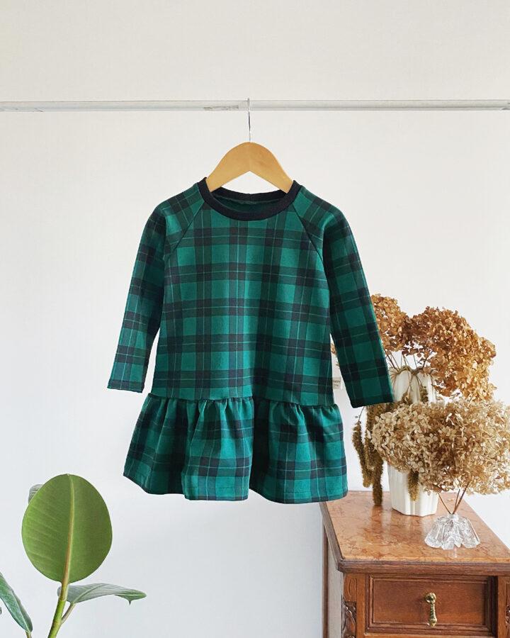 Languota žalia suknelė
