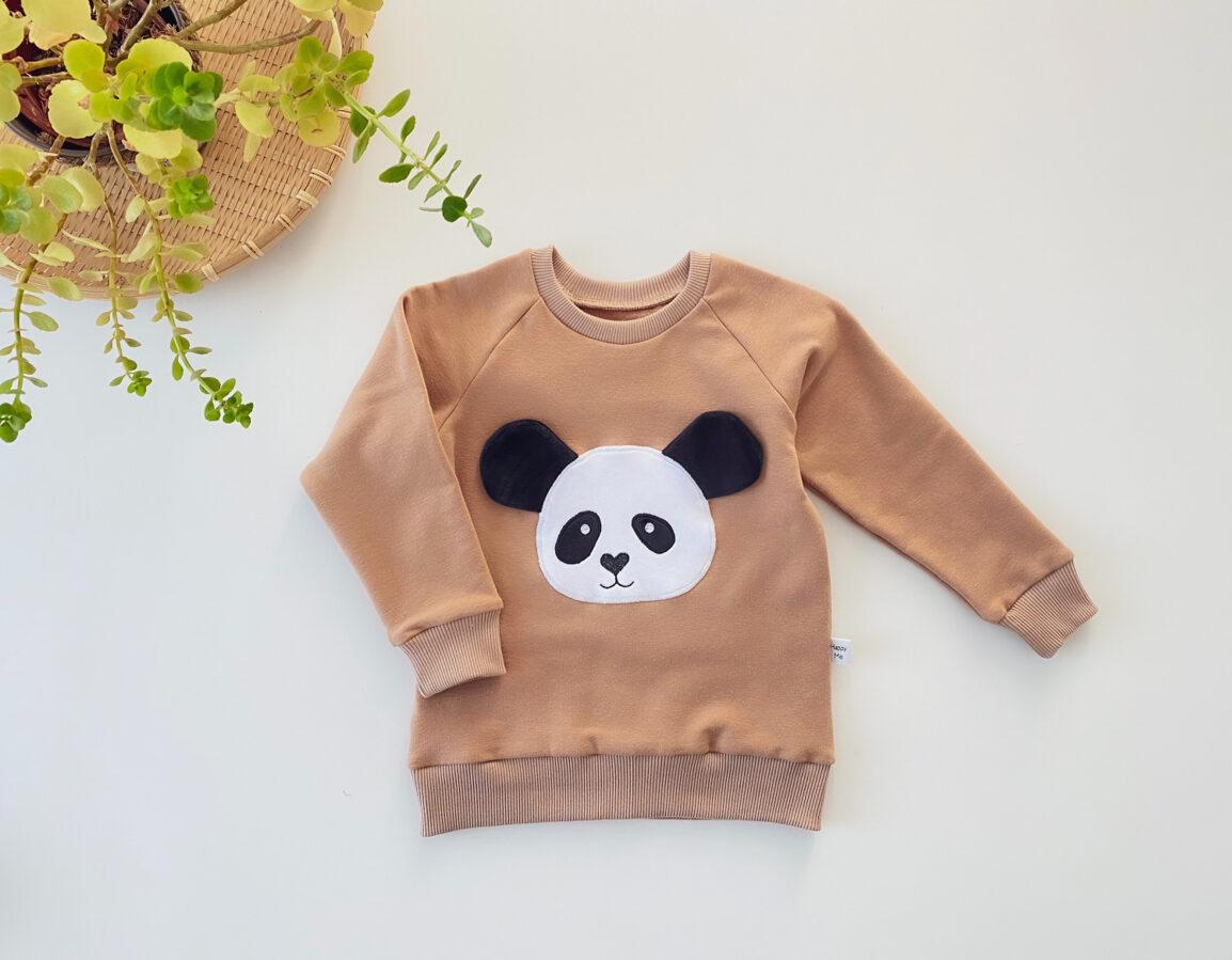 "Camel spalvos džemperis ,,Panda"""