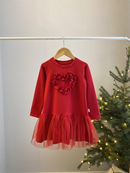 """Raudona suknelė ,,Širdelė"""""""