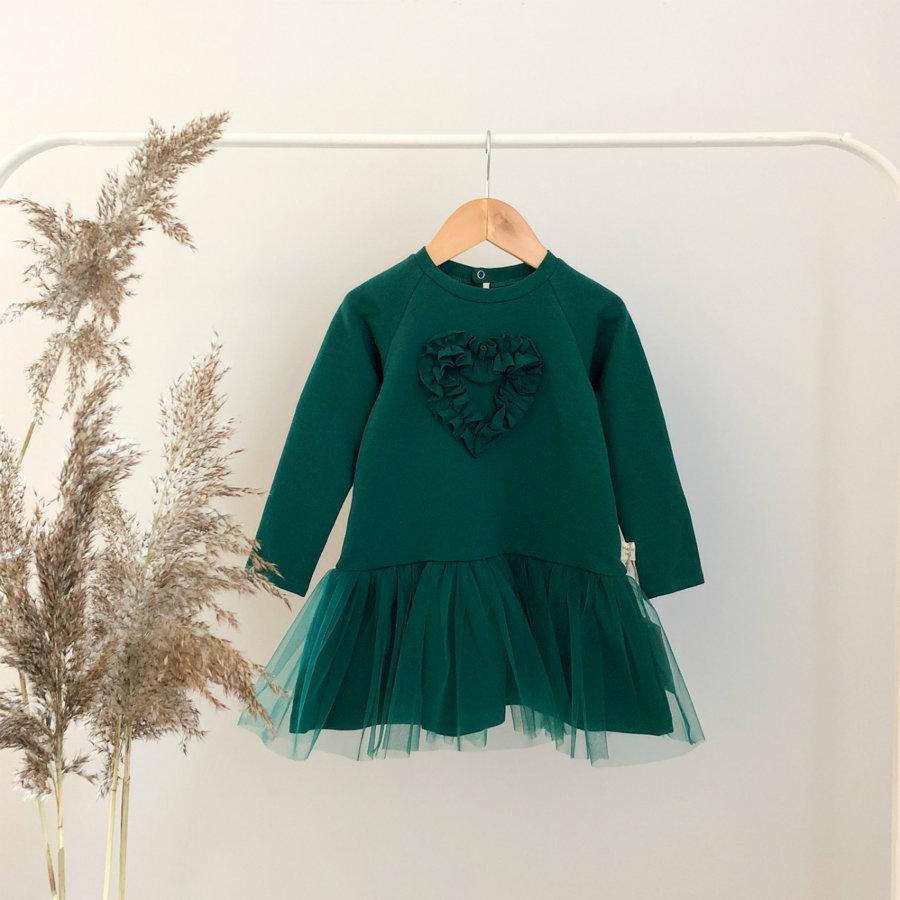 """Tamsiai žalia suknelė ,,Širdelė"""""""