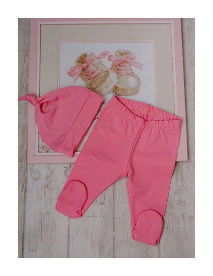 Rožinis komplektas kūdikiams