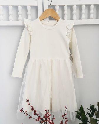 """Pieno spalvos suknelė ,,Sparnai"""""""