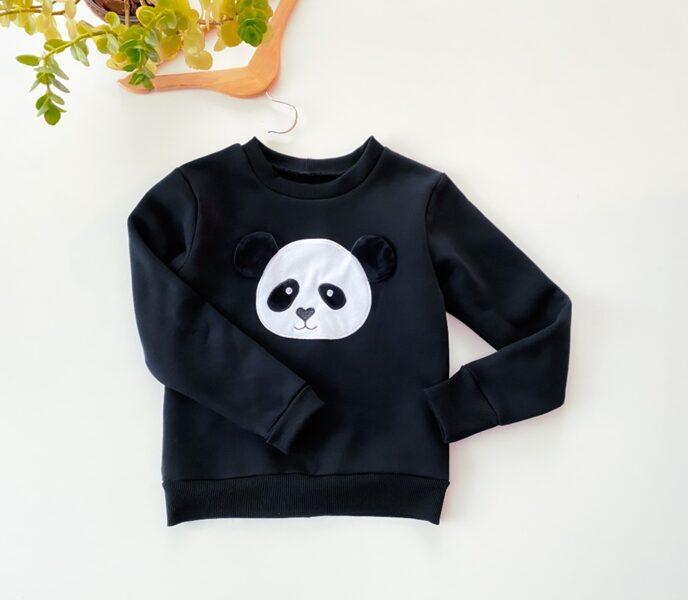 """Juodos spalvos džemperis ,,Panda"""""""