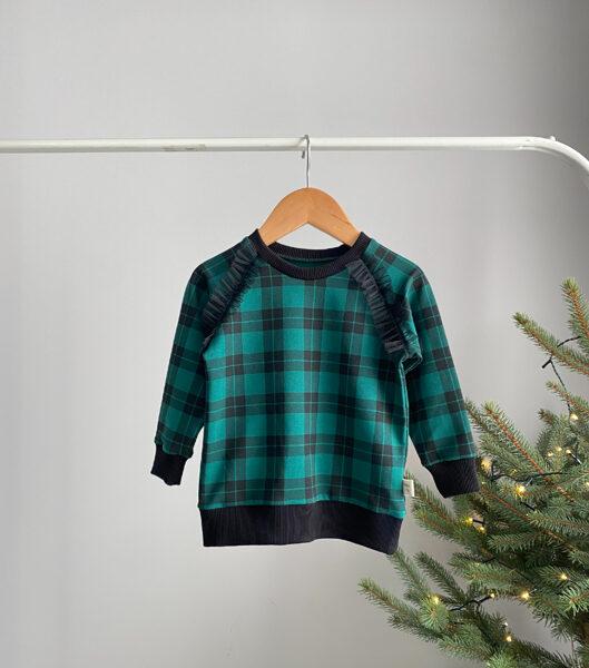 Languotas žalias džemperis mergaitei