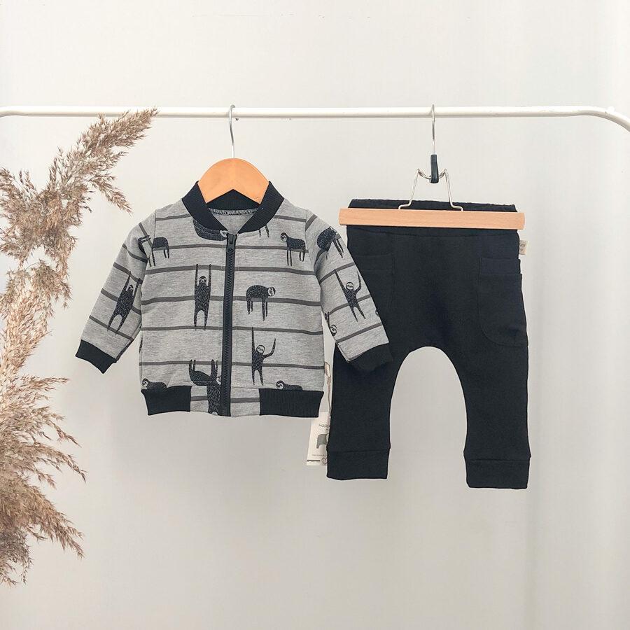 kelnės ir džemperis kūdikiams
